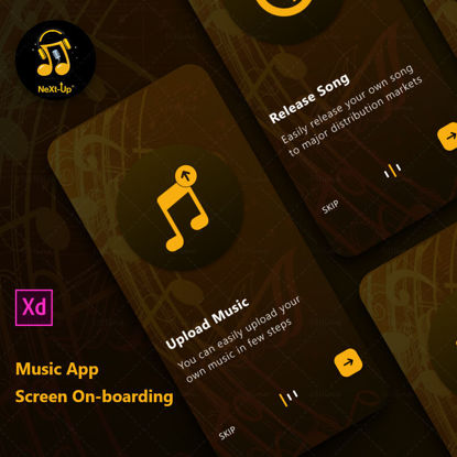 Music App Screen On-boarding Concept