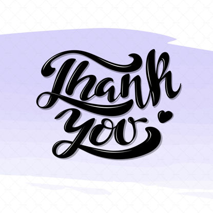 Thank you, digital handwriting, lettering