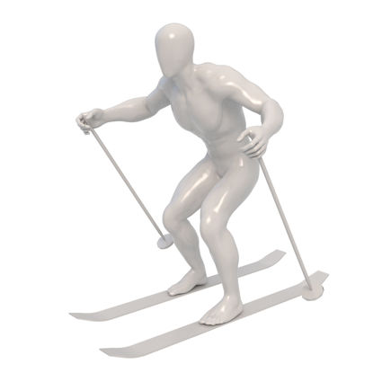 Skiing Male Mannequin 3d print model