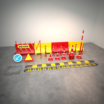 The 3d model of traffic facility