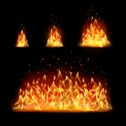 Vettore di sfondo di fiamma