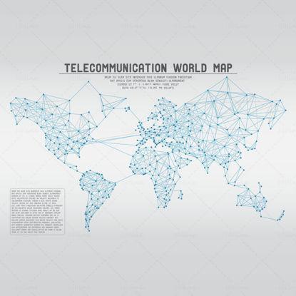 Mappa globale vettore materiale punto linea mappa del mondo informazioni rete distribuzione globale radiazione mappa mappa poligonale