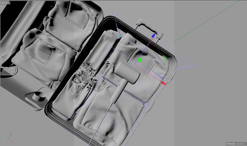 Asciugacapelli modello 3d valigia progetto c4d