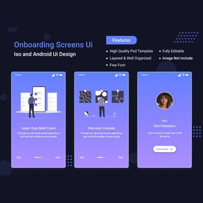 Schermata dell'app mobile dell'interfaccia utente integrata