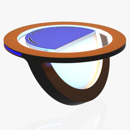 مدل سه بعدی میز گرد اخبار استودیو تلویزیون