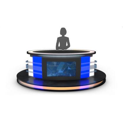 طراحی سه بعدی صفحه استودیو تلویزیونی گرد
