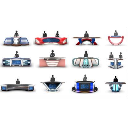 مجموعه مدلهای 3D Studio News News Desk (12 عدد)