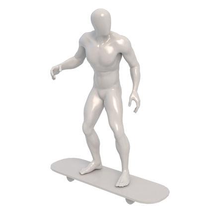 مدل چاپ سه بعدی مانکن نورد اسکیت
