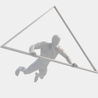 مدل چاپ سه بعدی مانکن مردانه کشویی آویزان