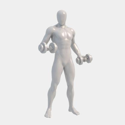 مدل چاپ سه بعدی مانکن مردانه پمپاژ