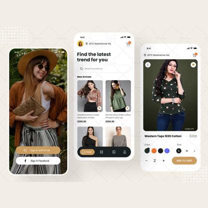 """Шаблон дизайна приложения """"Магазин модной одежды"""""""