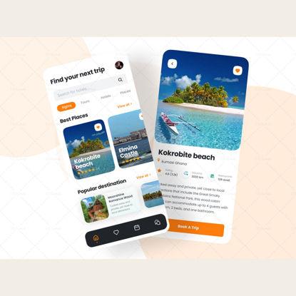 Дизайн приложения для путешествий