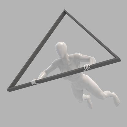 Strong hang gliding female mannequin 3d print model