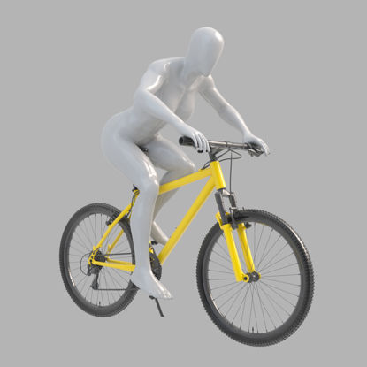 Riding bicycle female mannequin 3d print model