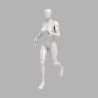 Strong running female mannequin runner 3d print model