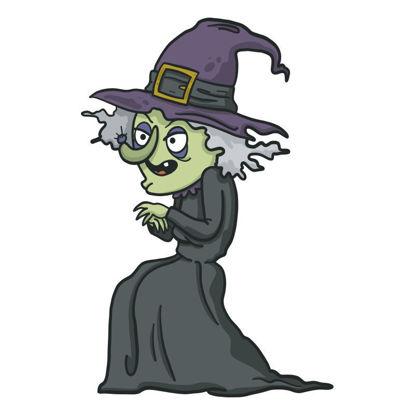Vector evil halloween witch
