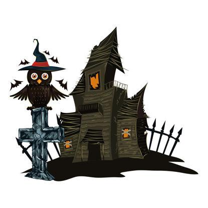 Vector halloween scary house