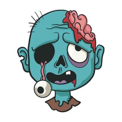 Vector cartoon halloween zombie avatar