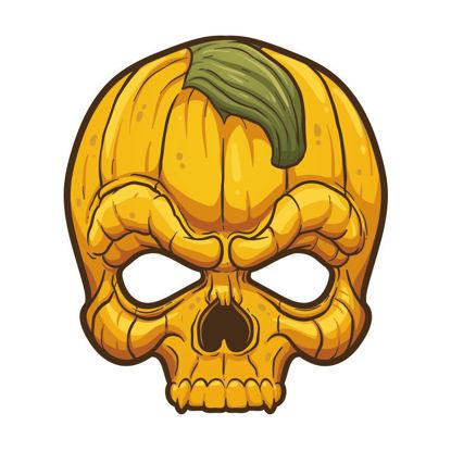 Halloween yellow mask vector