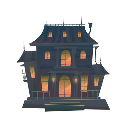 Vector late night halloween scary castle