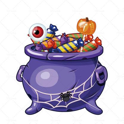 ハロウィーンのお菓子のベクトル図