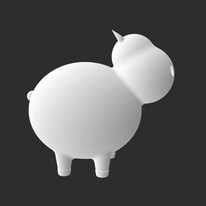 羊の3Dプリントモデル
