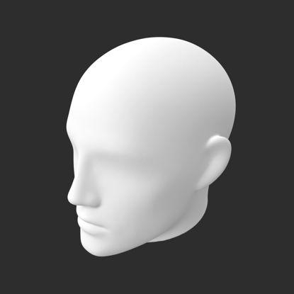 مدل چاپ سه بعدی سر نر