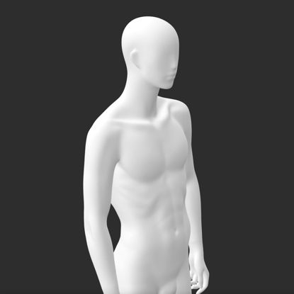 Knappe man etalagepop 3D-afdrukmodel