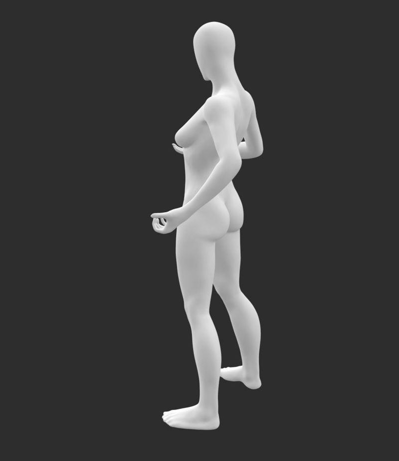 مدل چاپ سه بعدی مانکن زنانه باریک پمپاژ آهن