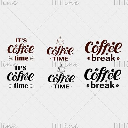 Кофе-брейк, кофе-брейк, время для кофе, кофе в зернах, логотип, кофейная чашка, коричневый стильный цвет, логотип для бизнеса, кафе, магазин, идентичный дизайн, флаер, наклейка, реклама, вывески