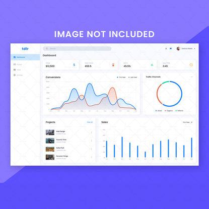 Дизайн шаблона веб-сайта Dashboard UI