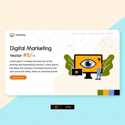 طراحی بازاریابی دیجیتال چشم کامپیوتر