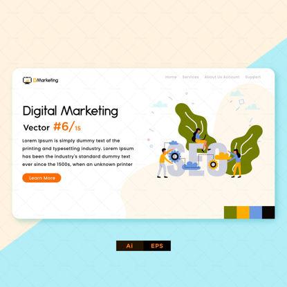 کار تیمی طراحی بازاریابی دیجیتال