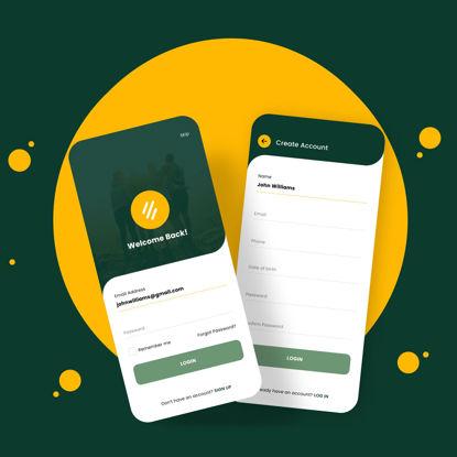 Вход в приложение Дизайн экрана регистрации