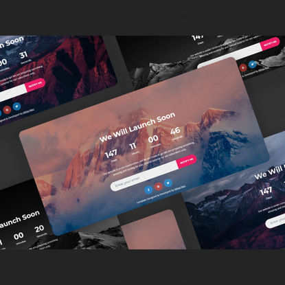 Coming soon page template HTML