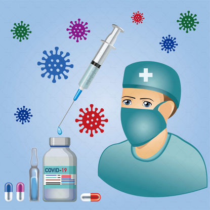 Врачи лекарства и вирусы вектор