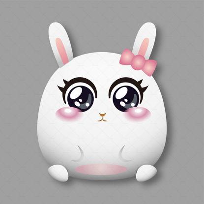 Милый белый кролик характер дизайн вектор