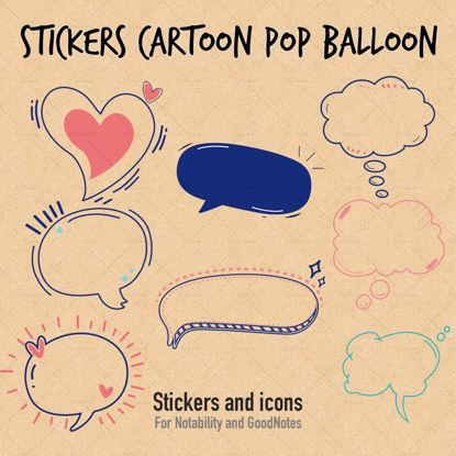 Matricák rajzfilm pop ballon párbeszédpanel
