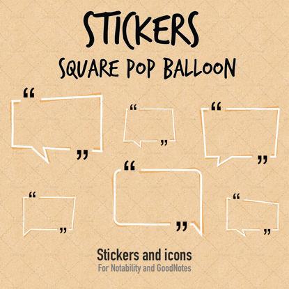 Matricák szögletes pop ballon párbeszédpanel