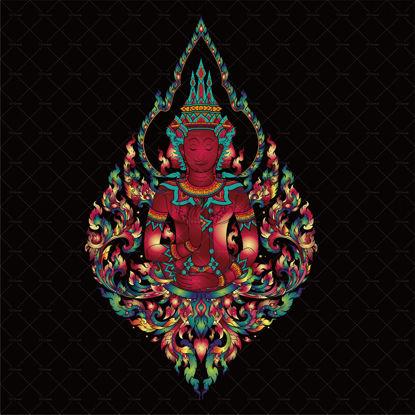 Thai vector buddhist buddha tattoo pattern