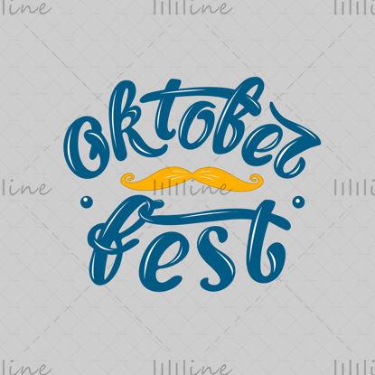 Oktoberfest diseño de vectores de letras manuscritas