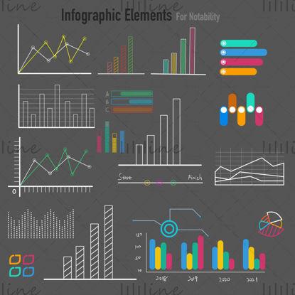 Figyelem Infographic elemek az üzleti életben