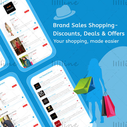 Brand Sales Shopping Discounts, Deals & Offers App UIUX Design