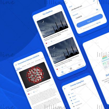 News App UIUX Design
