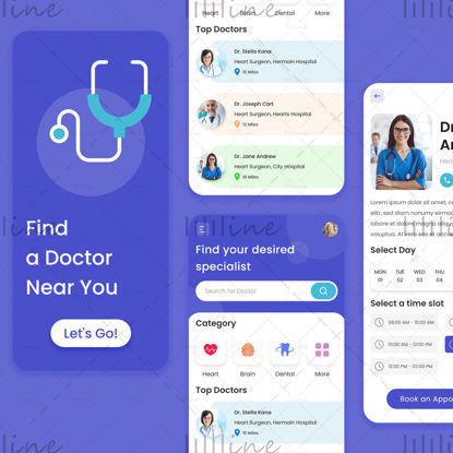 Doctor Appointment App Concept