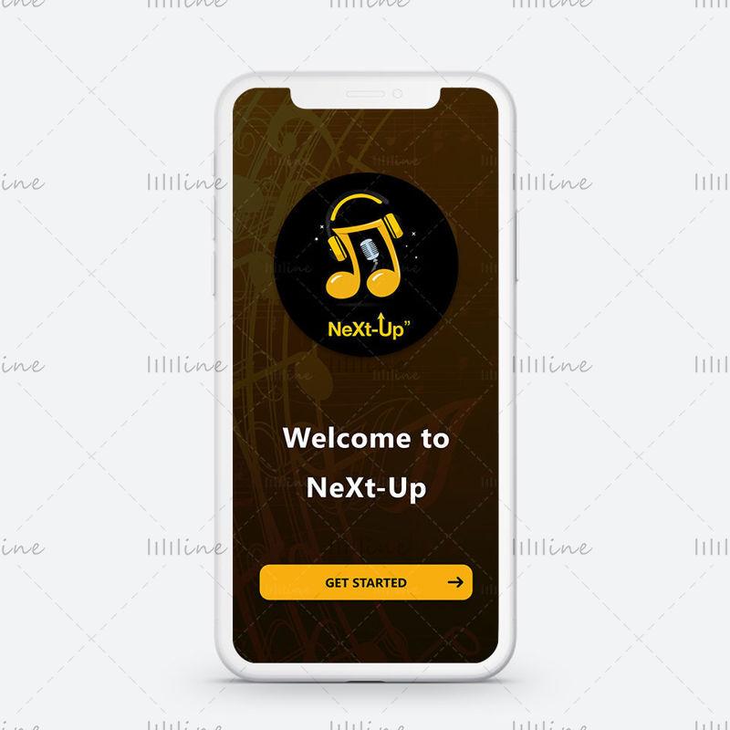 Concept d'intégration de l'écran de l'application musicale