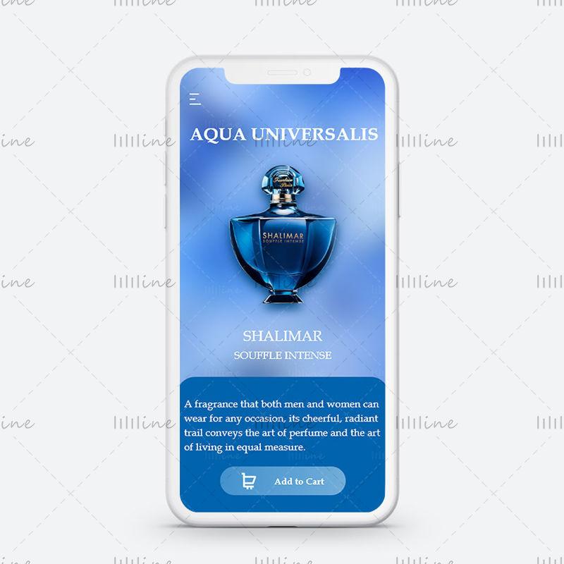 Conception d'interface utilisateur Glassmorphism pour l'application de parfum