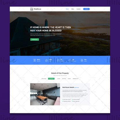 Interfaz de usuario de plantilla de sitio web de bienes raíces