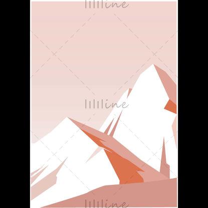 Flat Mountain illustration designed by Adobe Illustrator