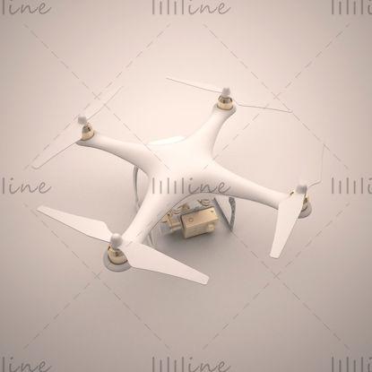 БПЛА с дистанционным управлением самолетом 3d модель